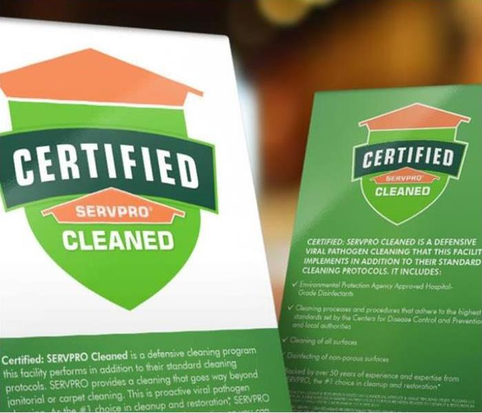 Become Certified: SERVPRO® Cleaned if Your Business Has a COVID-19 Outbreak.